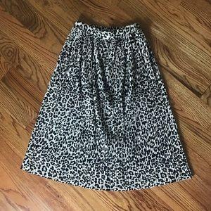 Leopard Midi Skirt NWT